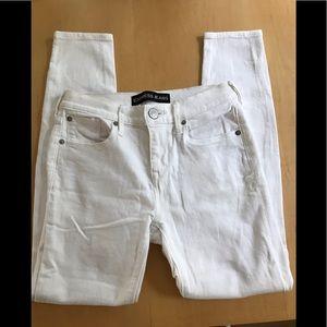 Express White Mid Rise Jean Leggings, Size 2 Short